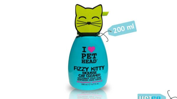 Pet Head Fizzy Kitty Strawberry Lemonade Mousse Cat Cleaner, 200 ml