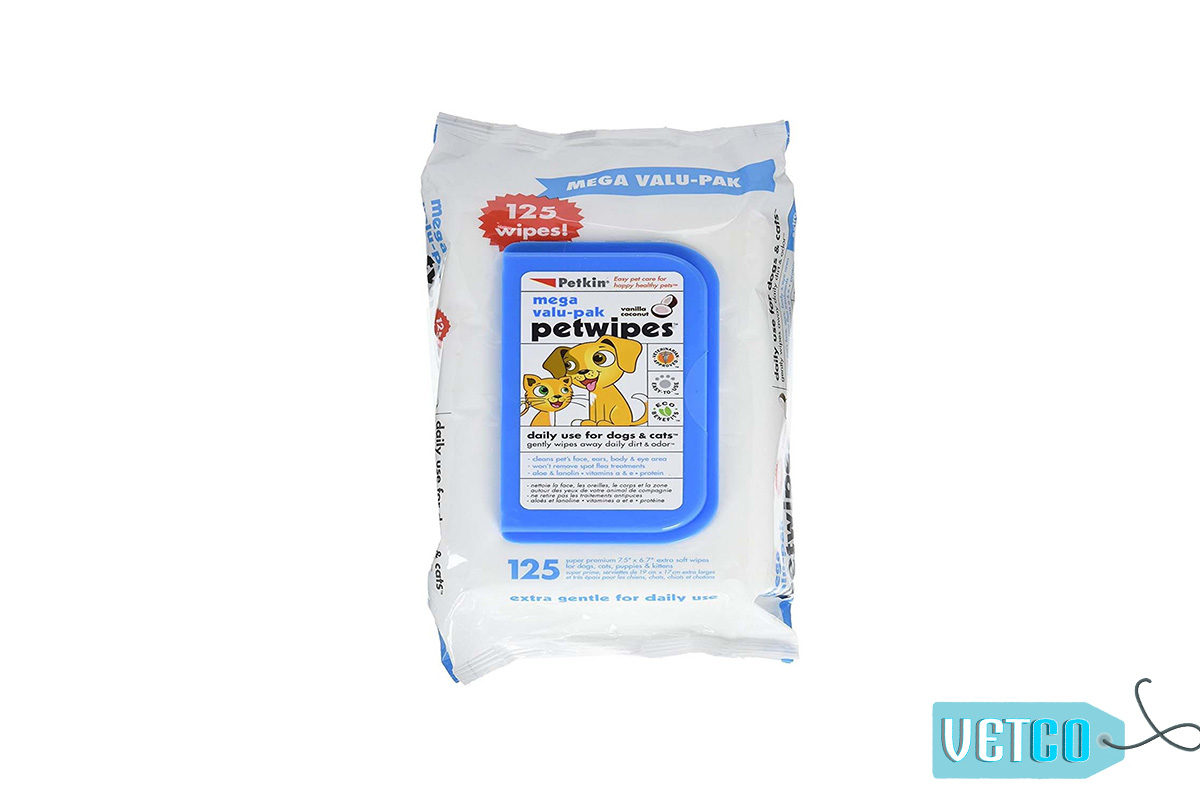 Petkin Daily Pet Wipes Fresh Scent Dog & Cat Wipes, 125 count