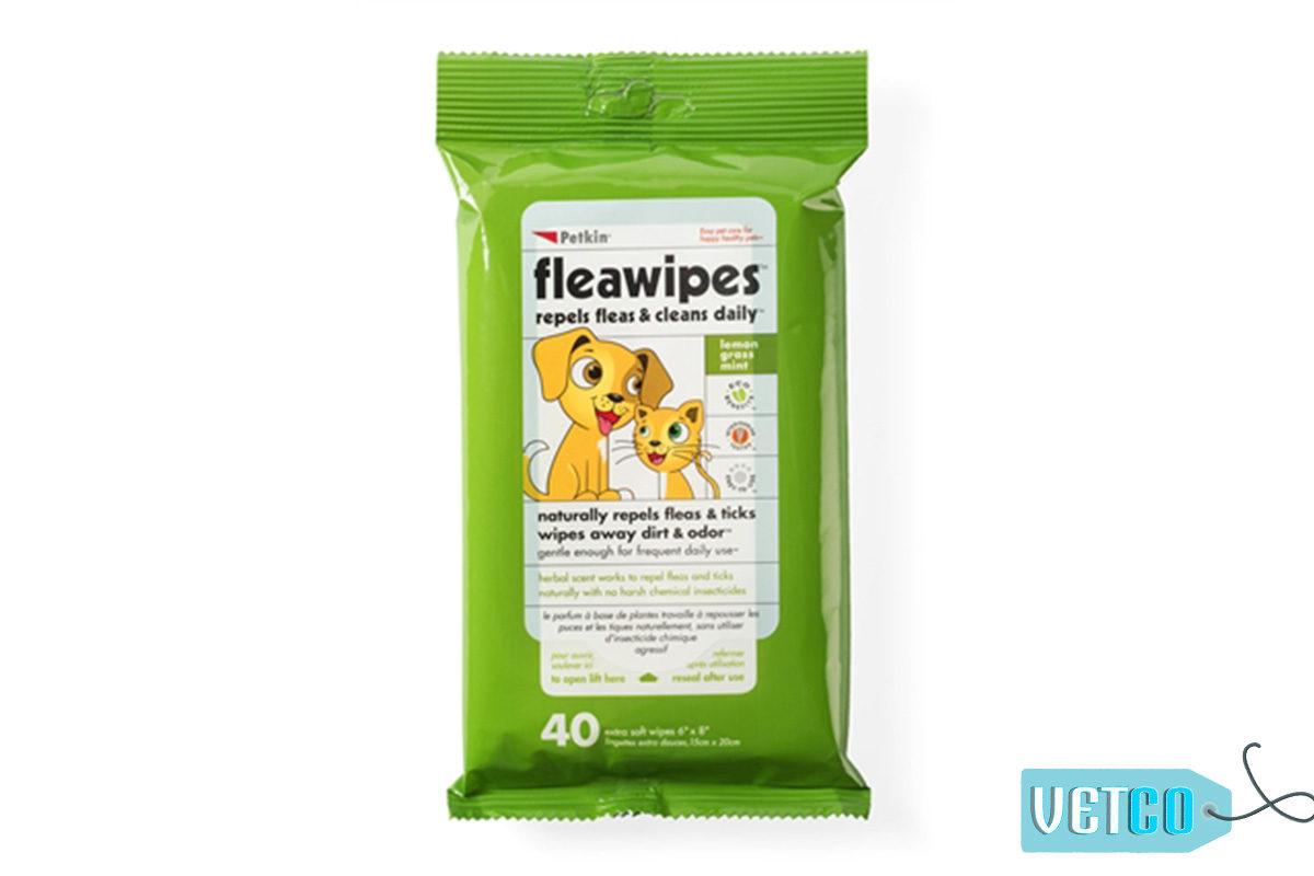 Petkin FleaWipes Dog & Cat Wipes, 40 count