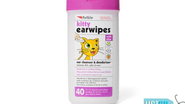 Petkin Kitty Ear Wipes, 40 count