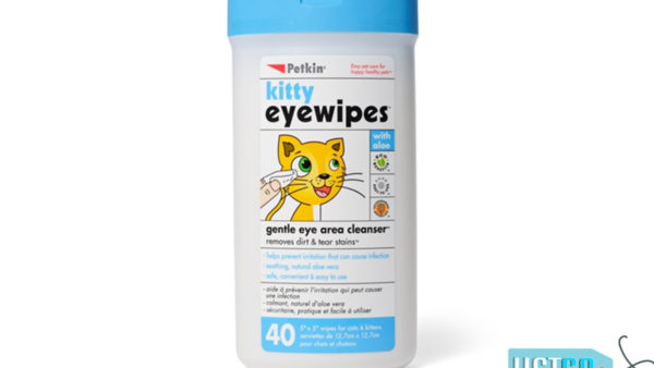 Petkin Kitty Eye Wipes, 40 count