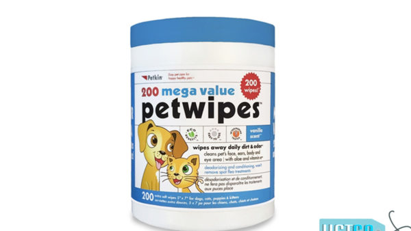 Petkin Mega Value Fresh Scent Dog & Cat Pet Wipes, 200 count