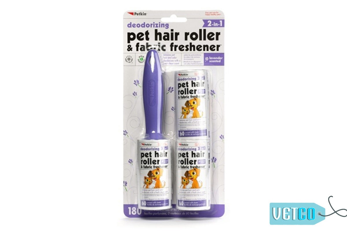 Petkin Pet Hair & Lint Roller with Fabric Freshener – Lavender,