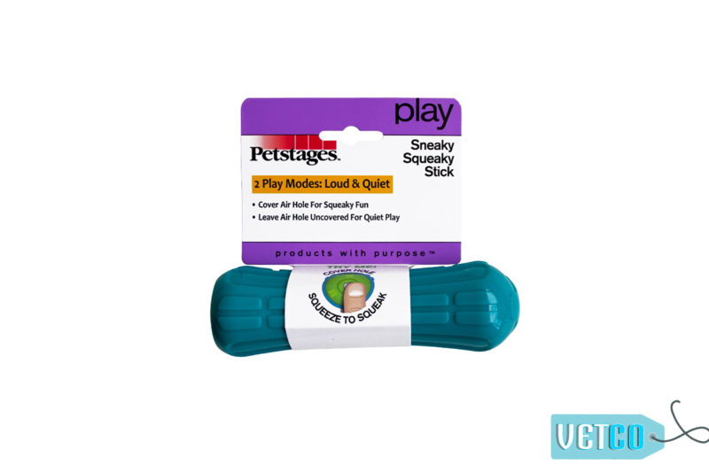 Petstages Sneaky Squeaky Stick Dog Toy