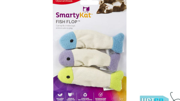 SmartyKat Fish Flop Crinkle Catnip Cat Toys (Set of 3)