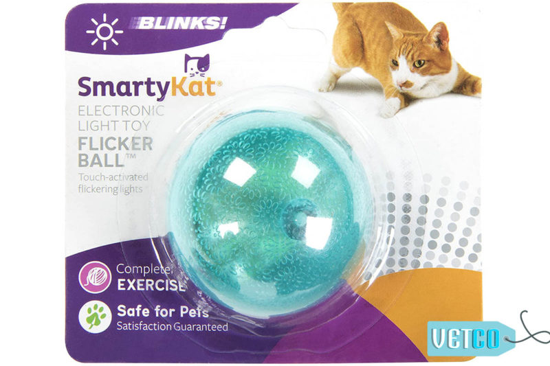 SmartyKat Flicker Ball Electronic Light Cat Toy