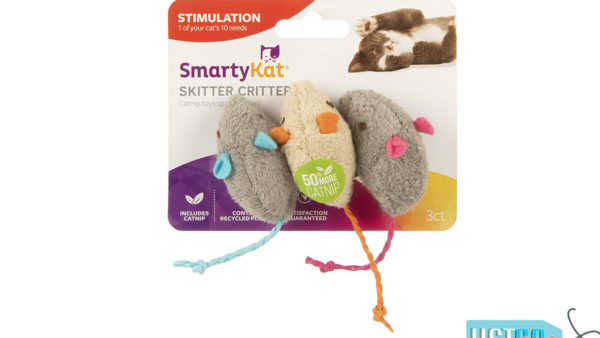 SmartyKat Skitter Critters Catnip Mice Cat Toy (Set of 3)
