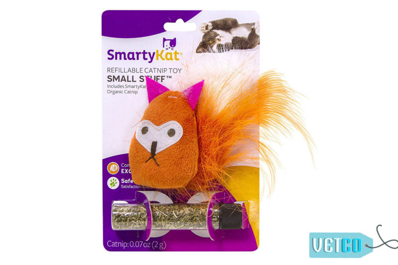 SmartyKat Small Stuff Refillable Catnip Cat Toy