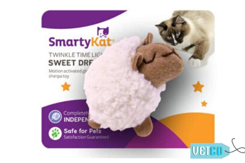 SmartyKat Sweet Dreamer Quiet Light-Up Electronic Cat Toy