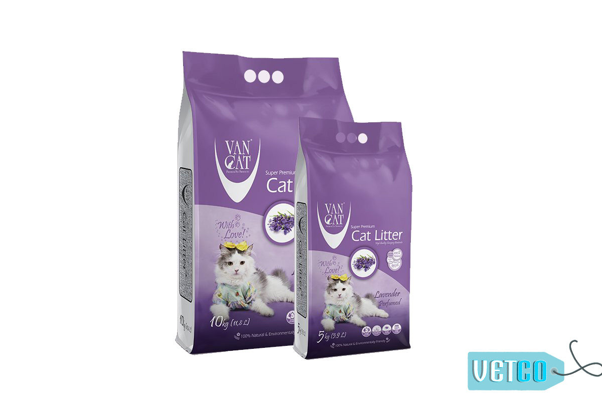 Vancat Lavender White Bentonite Clumping Cat Litter