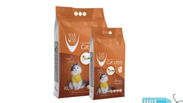 Vancat Orange White Bentonite Clumping Cat Litter