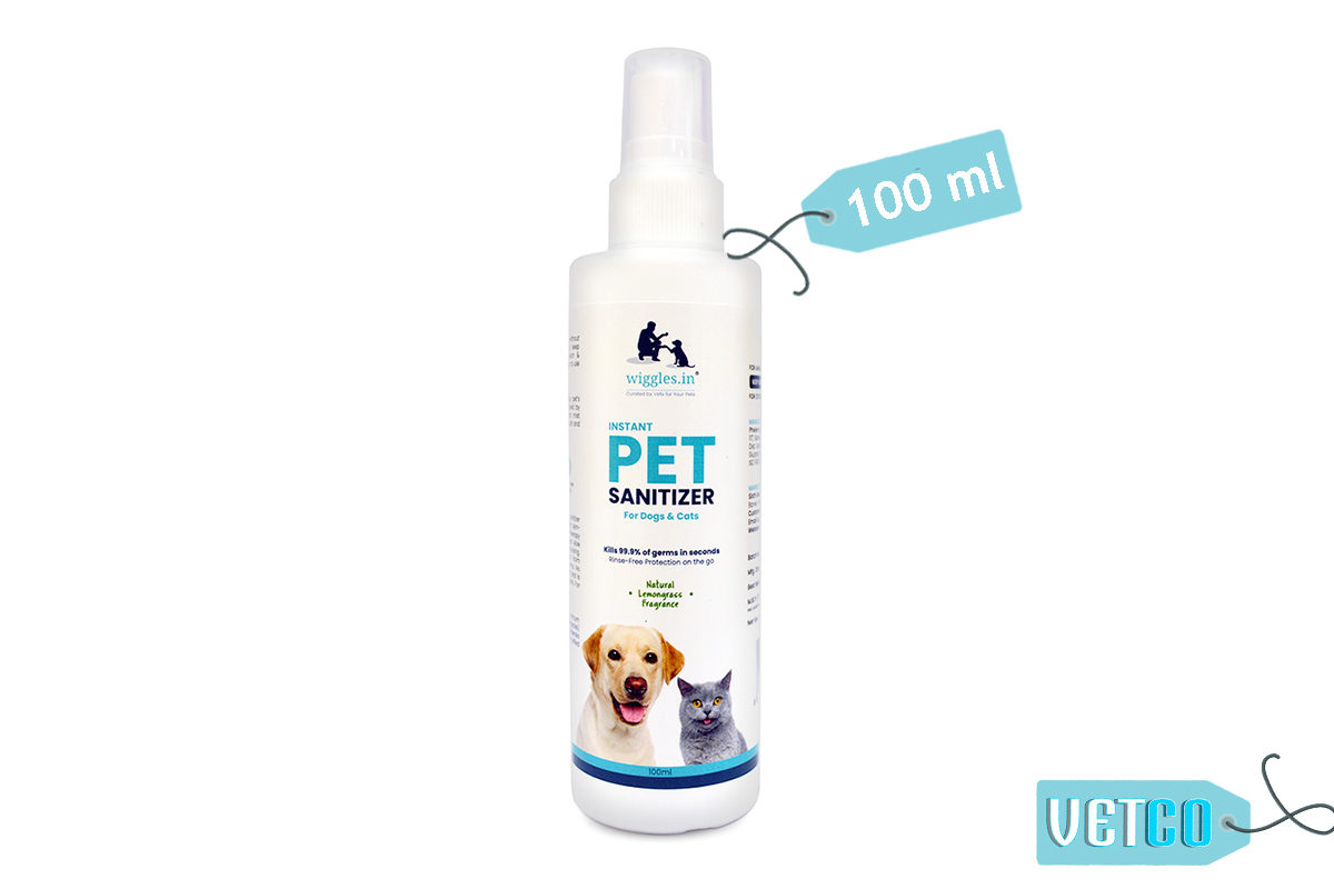 Wiggles Instant Pet Sanitizer for Dogs and Cats, 100ml