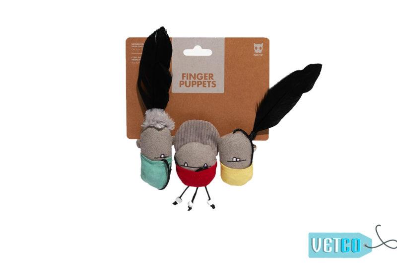 Zee.Dog Finger Puppets Cat Toy (Set of 3)