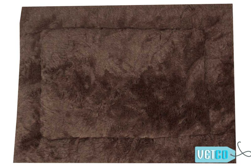 Barks n Wags Brown Fur Rug Dog & Cat Flat Bed