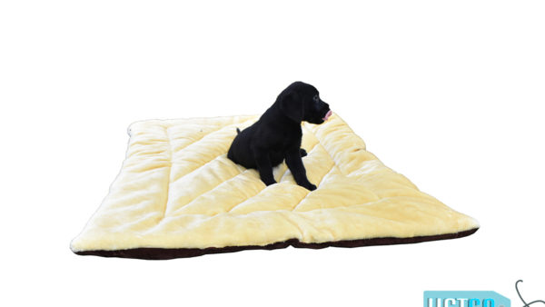 Barks n Wags Yellow and Brown Flip It Dog & Cat Flat Bed