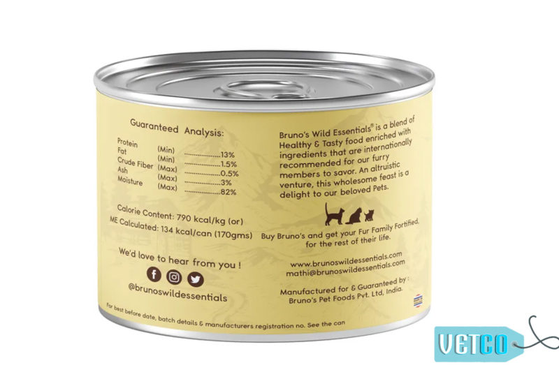 Bruno's Wild Essentials Mackerel & Tuna in Gravy Wet Cat Food (All Life Stages)