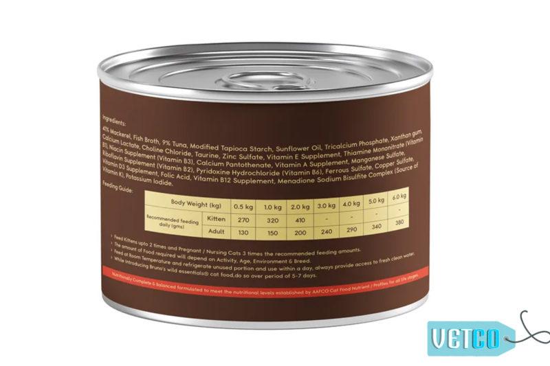 Bruno's Wild Essentials Mackerel & Tuna in Gravy Wet Cat Food (All Life Stages)