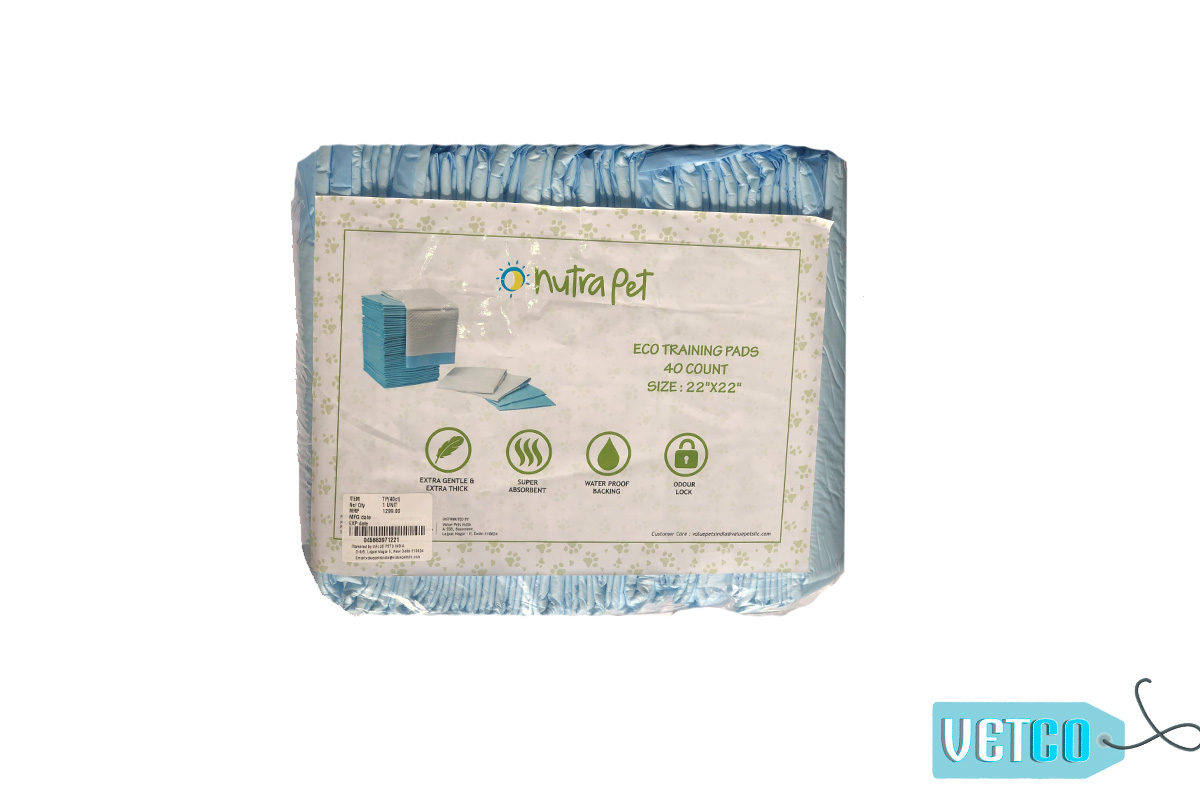 nutraNutrapet Ultra Absorbent Pet Training Pads, 40 padspet training pads