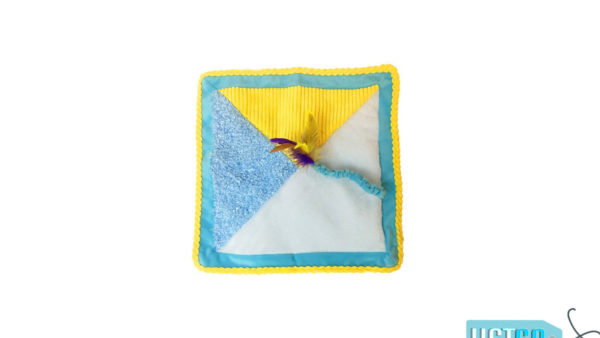 Petstages Kitty Quilt Cat Toy with Feather