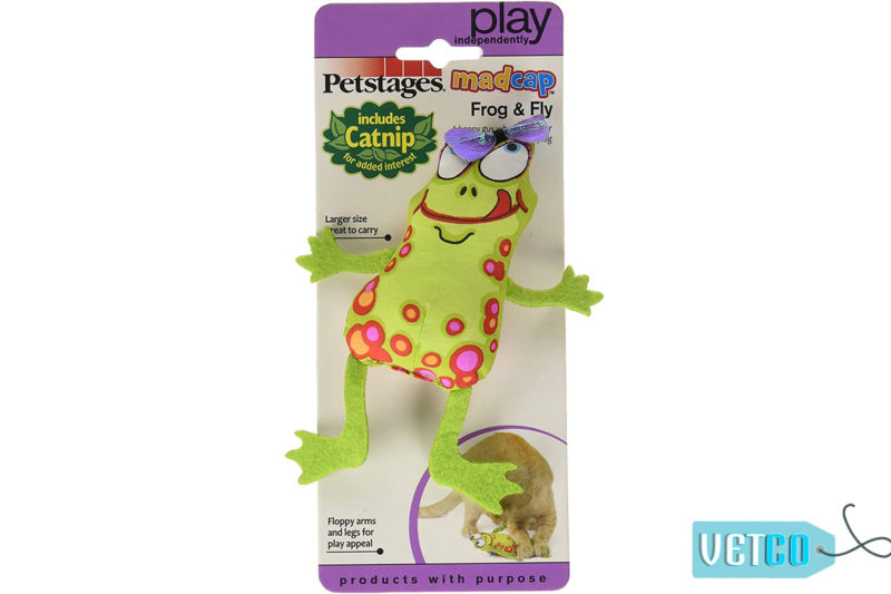 Petstages Madcap Frog and Fly Catnip Toy