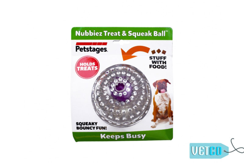 Petstages Nubbiez Treat & Squeak Ball Dog Toy - Large