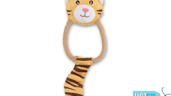 Beco Pets Dual Material Hemp Rope Tiger Dog Toy