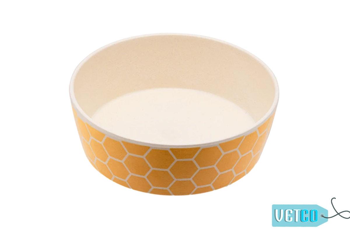 Beco Pets Honeycomb Bamboo Dog Bowl