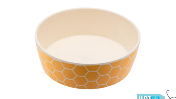 Beco Pets Honeycomb Bamboo Dog Bowl