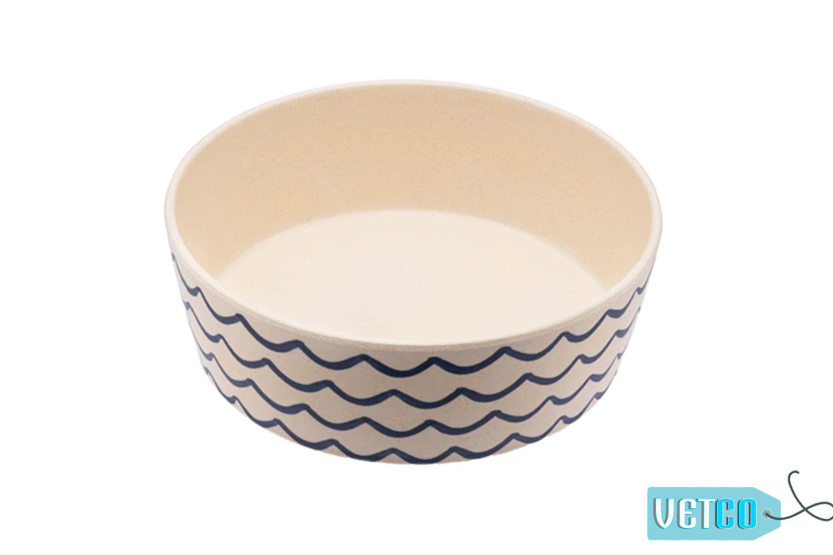 Beco Pets Ocean Waves Bamboo Dog Bowl