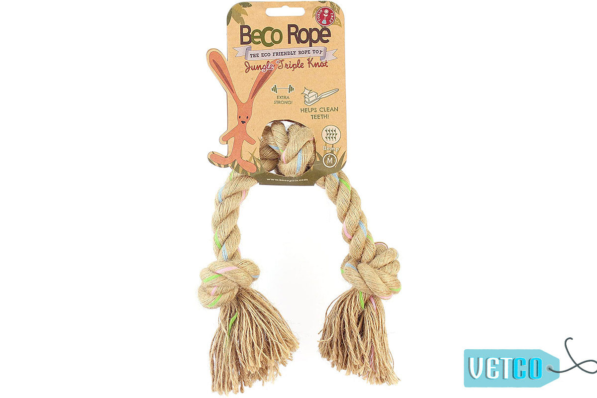 Beco Pets Rope Jungle Ring Triple Knot Dog Toy