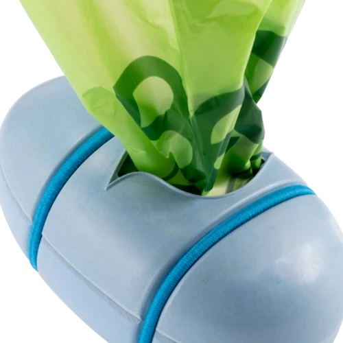 Beco Pets Sustainable Bamboo Poop Bag Dispenser - Blue