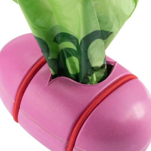 Beco Pets Sustainable Bamboo Poop Bag Dispenser - Pink