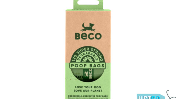 Beco Pets Unscented Degradable Poop Bags, 120 Count