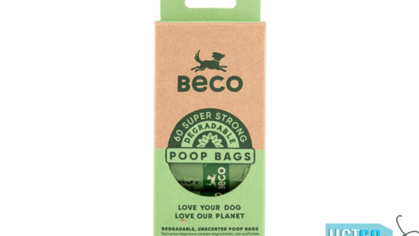 Beco Pets Unscented Degradable Poop Bags, 60 Count