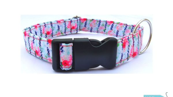 Hazel & Co Microflorals Collar for Dogs