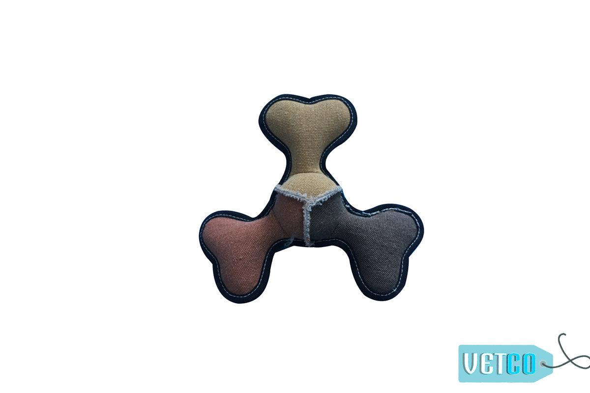 Nutrapet Bone Frisbee Jute Dog Toy
