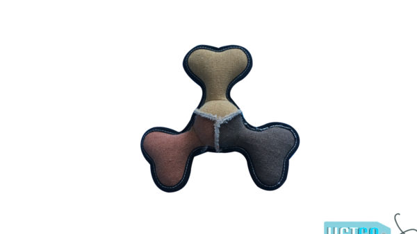 Nutrapet Bone Frisbee Jute Dog Toy