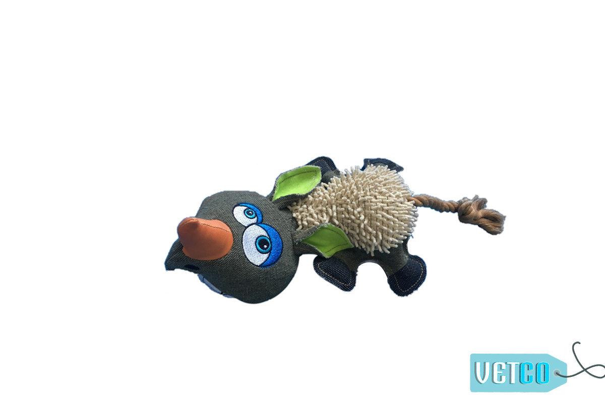 Nutrapet Cozy Rhino Jute Dog Toy