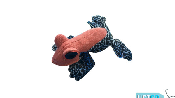 Nutrapet Fluffy Frog Jute Dog Toy
