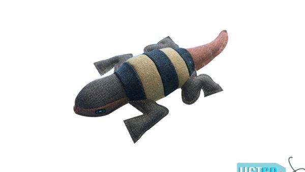 Nutrapet Loopy Lizard Jute Dog Toy