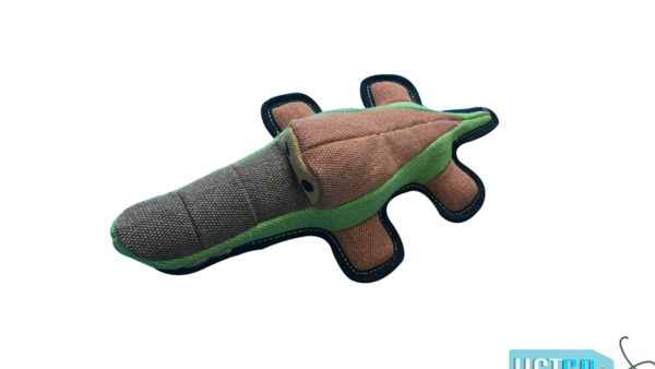 Nutrapet Plush Alligator Jute Dog Toy