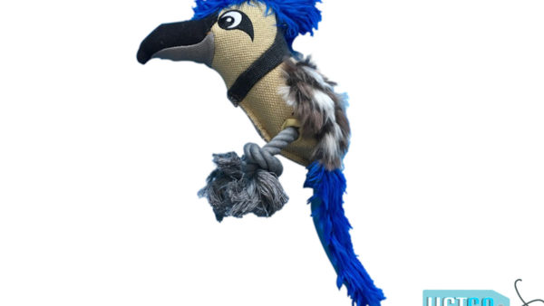 Nutrapet Plush Blue Jay Jute Dog Toy