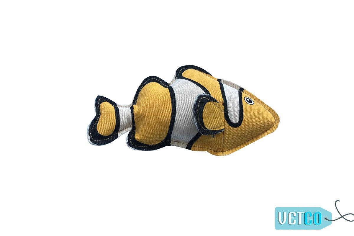 Nutrapet Plush Clownfish Jute Dog Toy