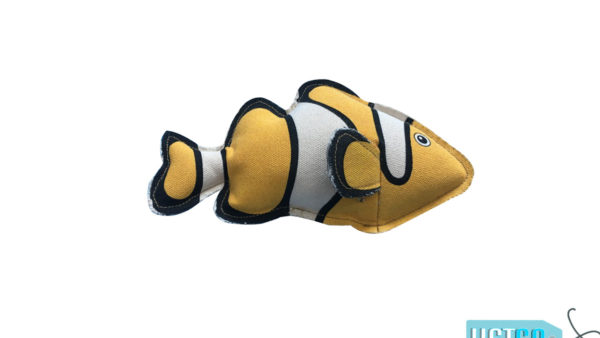 Nutrapet Plush Clownfish Jute Dog Toy