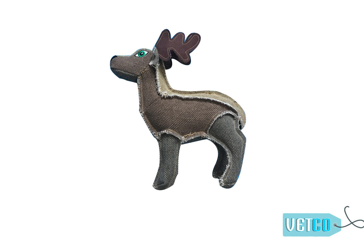 Nutrapet Plush Deer Jute Dog Toy