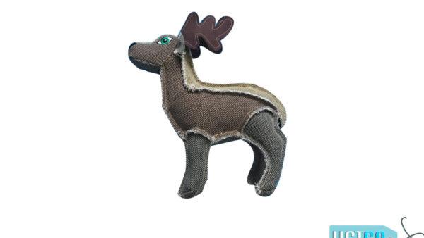 Nutrapet Plush Deer Jute Dog Toy