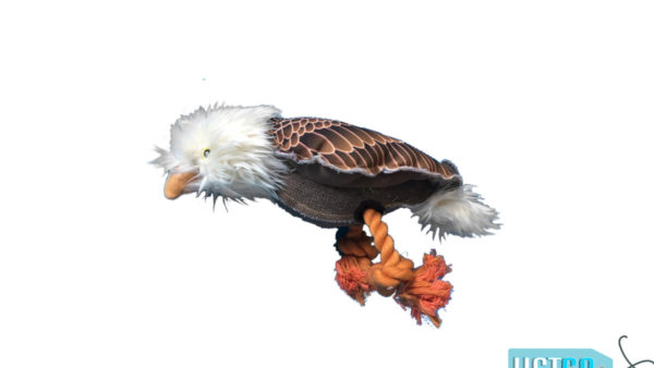 Nutrapet Plush Eagle Jute Dog Toy