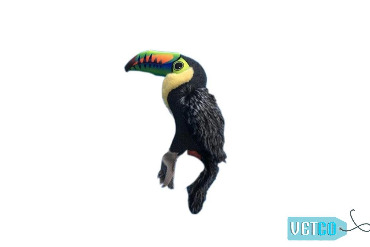 Nutrapet Plush Toucan Jute Dog Toy