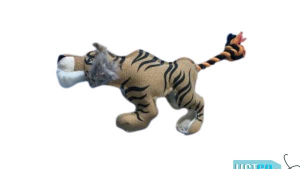 Nutrapet Plush Tough Tiger Jute Dog Toy