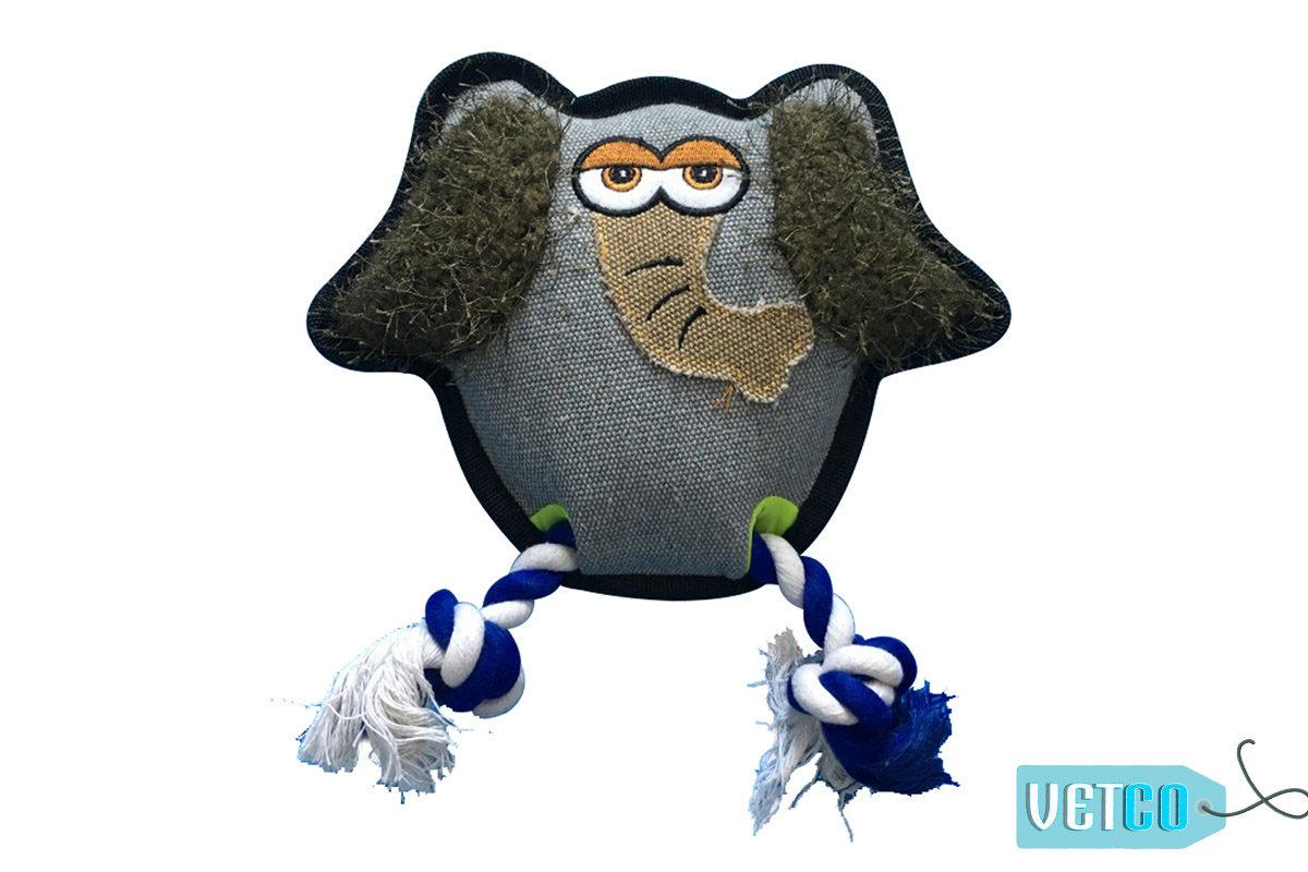 Nutrapet Ropey Elephant Jute Dog Toy